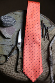 Classic Pumpkin Dot Vintage Inspired Necktie