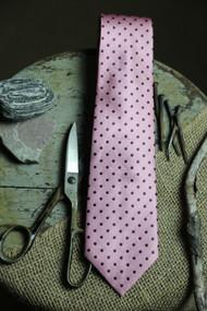 Classic Mauve Dot Vintage Inspired Necktie