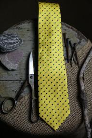 Classic Lemon Dot Vintage Inspired Necktie