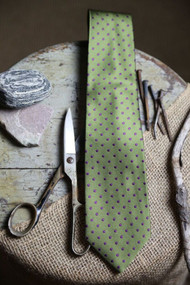 Classic Green Mint Dot Vintage Inspired Necktie
