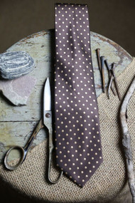Classic Toffee Tan Dot Vintage Inspired Necktie