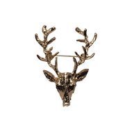 Gold Deer Head Pin