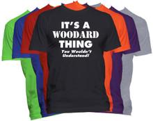 WOODARD Name T-Shirt Personalized Custom Surname Last Name Tee