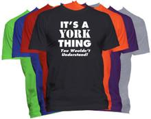 YORK Name T-Shirt Personalized Custom Surname Last Name Tee