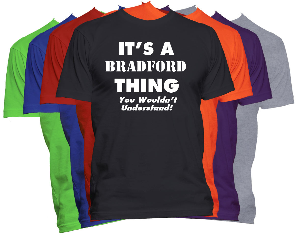 Bradford Name T Shirt Personalized Custom Last Name Tee Fat Duck Tees