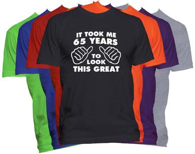 65th Birthday T Shirt Custom