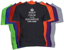 Keep Calm I'm An Aquarius Zodiac Sign T Shirt Custom Astrology Horoscope Shirt
