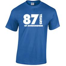 87th Birthday T Shirt Years of Awesomeness Custom Birthday Shirt