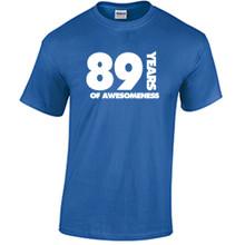 89th Birthday T Shirt Years of Awesomeness Custom Birthday Shirt