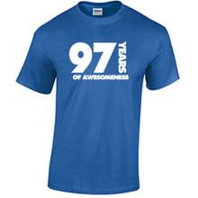 97th Birthday T Shirt Years of Awesomeness Custom Birthday Shirt