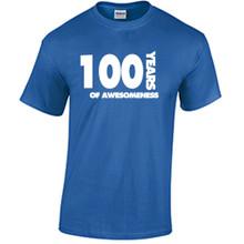 100th Birthday T Shirt Years of Awesomeness Custom Birthday Shirt