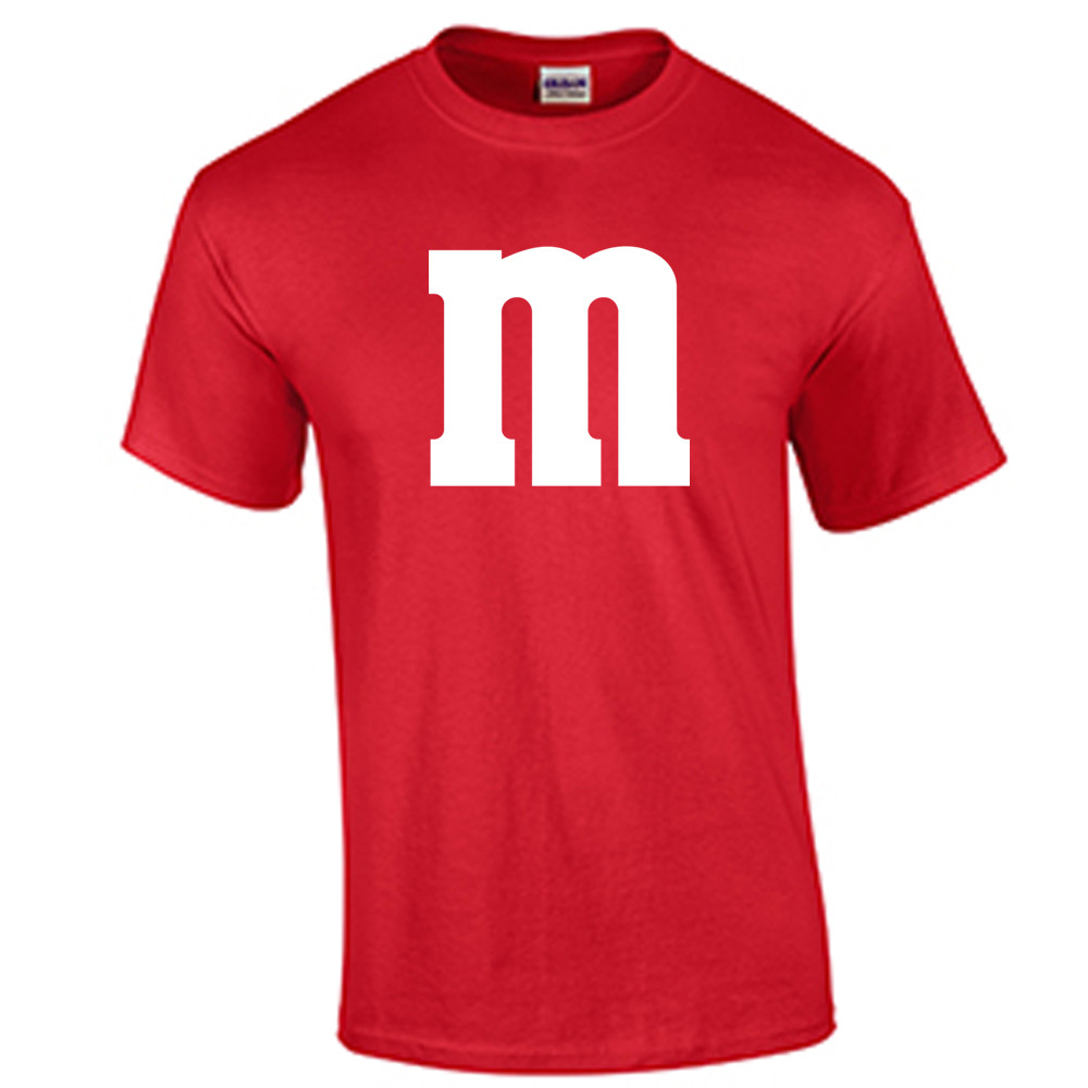 M&M Halloween Costume T Shirt Letter M Logo Tee   Fat Duck Tees
