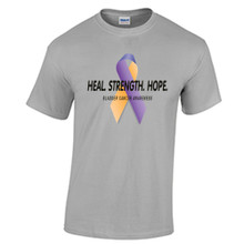Bladder Cancer Awareness T Shirt Marigold Blue Purple Ribbon Cancer Awareness Shirt