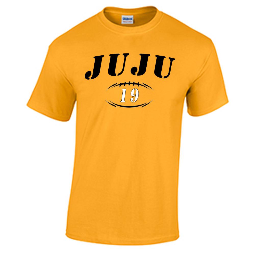 online store d3cb7 ac80a JuJu Smith-Schuster Jersey T Shirt Gold Tee