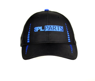 Black with Blue SPL Logo and vertical stripes