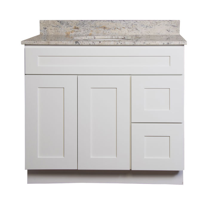 walnut ridge shaker white 36 in w x 21 in d x 34 1 2 in h rh bigboxliquidation com 36 inch white bathroom vanity cabinet