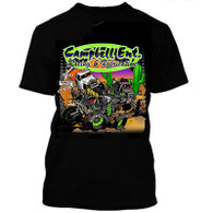 2016 Black Campbell Racing Short Sleeve Cartoon Tshirt