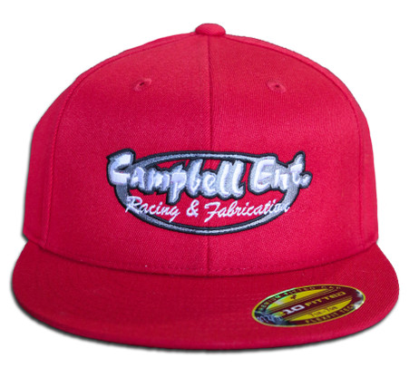Campbell Ent Racing and Fabrication Red 210 Fitted Hat