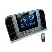 HD Clock Camcorder & Player with LCD Monitor and Remote (4GB)