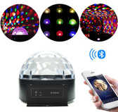 Dome LED Disco Ball with Bluetooth Speaker (Crystal)
