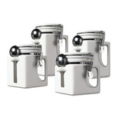 EZ Grip 4 Piece Ceramic Airtight Canister Set - White