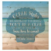 Ocean Rules Seashell Pallet Art