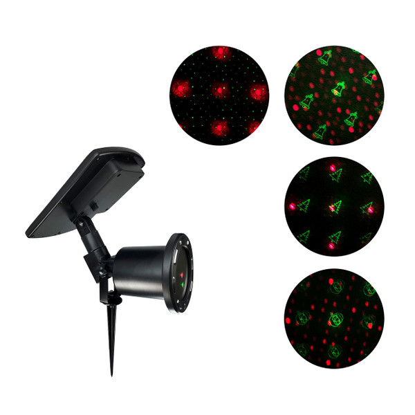 Solar Powered Christmas Laser Light Projector