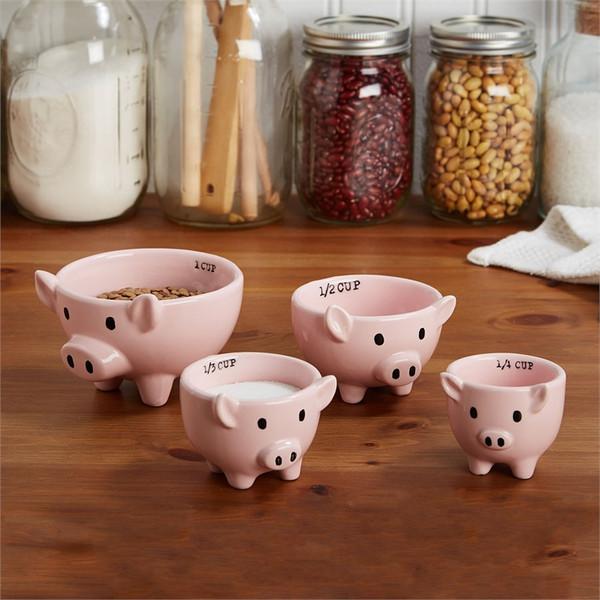 Pig Measuring Cup, Set of 4