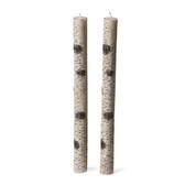 Birch Bark Taper Candles, Set of 2