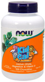 Kid-Cal Chewable Calcium 100 loz, Now Foods
