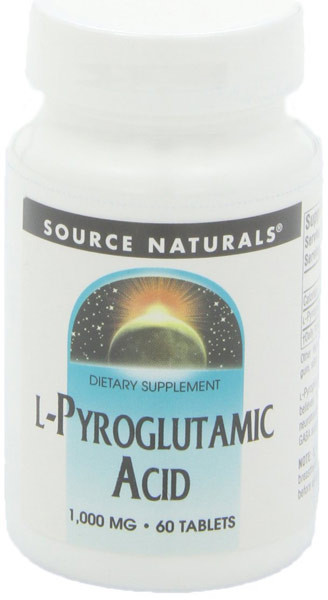 L-Pyroglutamic Acid 1000 mg 60 Tabs Source Naturals, Nuero-Supportive