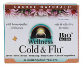 Wellness Cold & Flu 48 Tabs Source Naturals, Immune