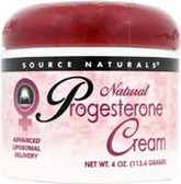Progesterone Cream 4 oz, Source Naturals Supplements