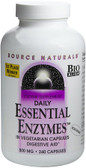 Essential Enzymes 500 mg 240 Caps Source Naturals