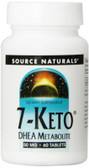 7-Keto DHEA Metabolite 50 mg 60 Tabs, Source Naturals