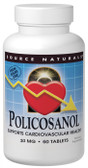 Policosanol 10 mg 60 Tabs, Source Naturals, Cholesterol
