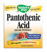 Pantothenic Acid 250 mg, 100 caps, Nature's Way