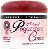 Progesterone Cream 4 oz, Source Naturals