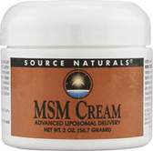 MSM Cream 15% 2 oz, Source Naturals Joints Supplement