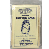 Reusable Cotton Teabags 3 PK Flower Valley