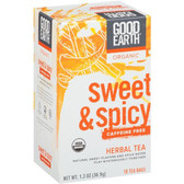 Good Earth Teas Sweet & Spicy Herbal No Caffeine 18 Bags