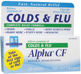 Alpha CF Colds & Flu  40 Tabs, Boericke and Tafel