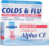 Children's Alpha CF Colds/Flu 100 Tabs, Boericke and Tafel