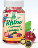 Rhino Vitamin D Bears 60 ct Nutrition Now