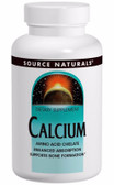 Calcium Chelate 200 mg elemental 100 Tabs, Source Naturals