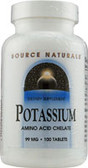 Potassium Chelate 99 mg 100 Tabs, Source Naturals