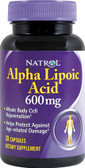 Alpha Lipoic Acid 600mg 30 Caps, Natrol