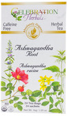 Ashwagandha Root Organic 24 Tea Bags Celebration Herbals