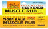 Tiger Balm Fast Relief Muscle Rub Topical Analgesic Cream 2 oz