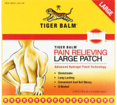 Tiger Balm Pain Relieving Patch 8x4 inch 4 Patches, Tiger Balm